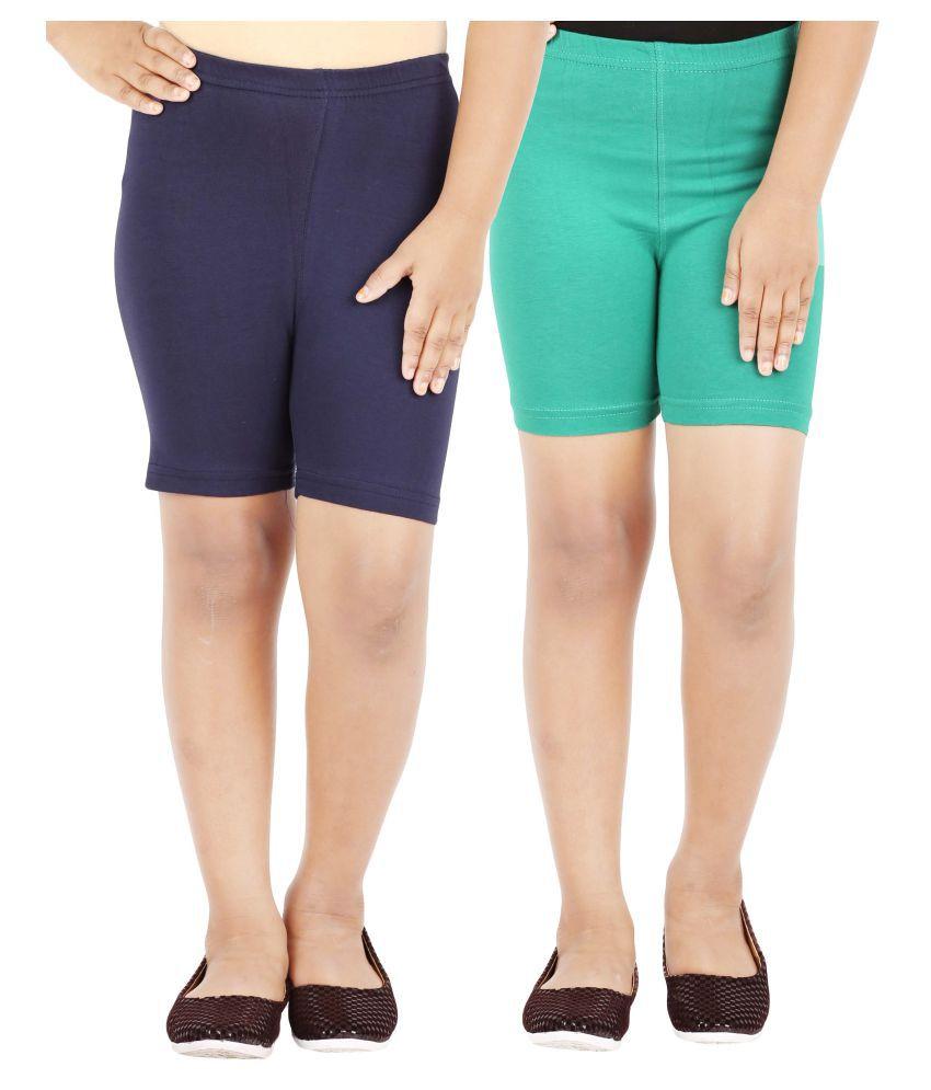 Lula Girls Spandex Shorts (Pack of 2)