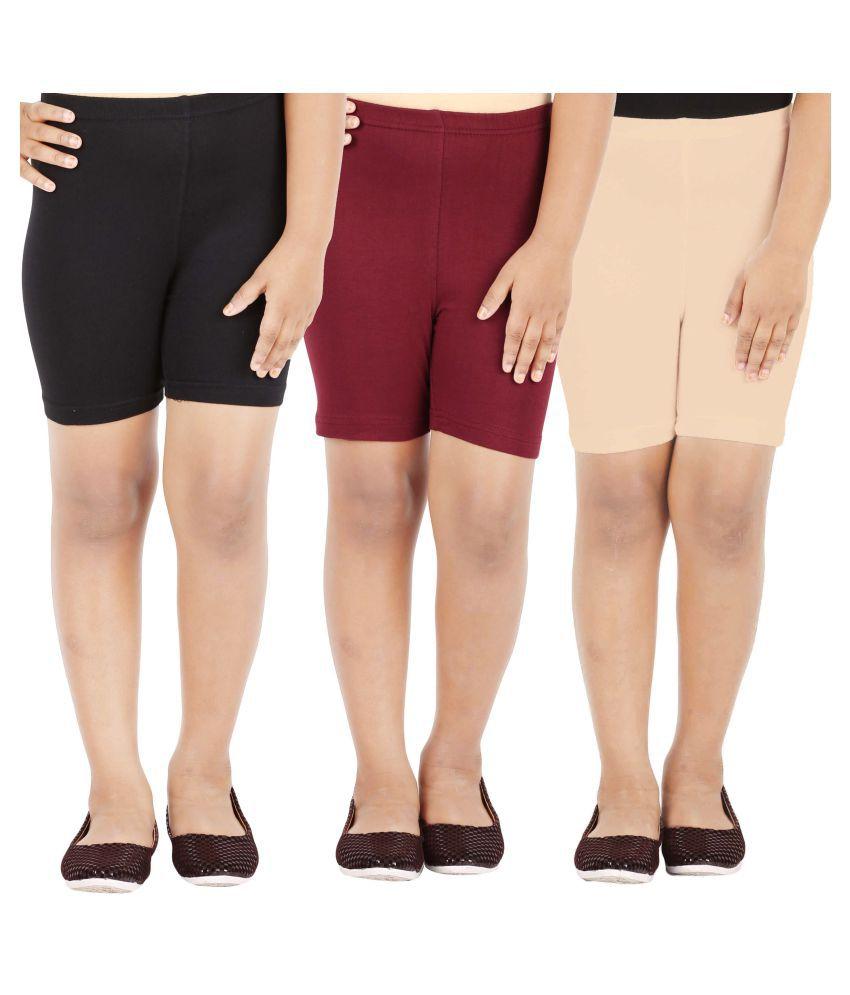 Lula Multicolour Shorts - Pack Of 3