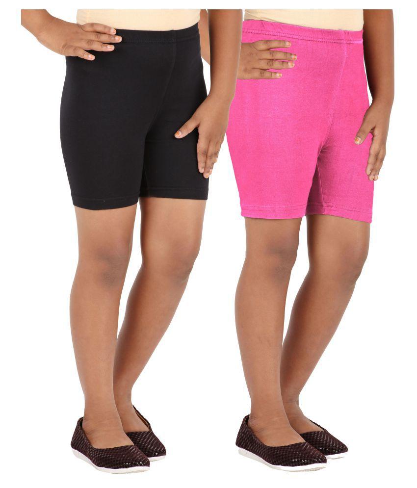 Lula Multicolour Spandex Shorts - Pack of 2