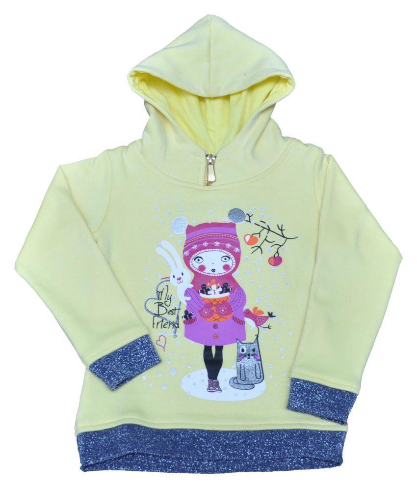 Ziama Green Fleece Sweatshirts for Girls