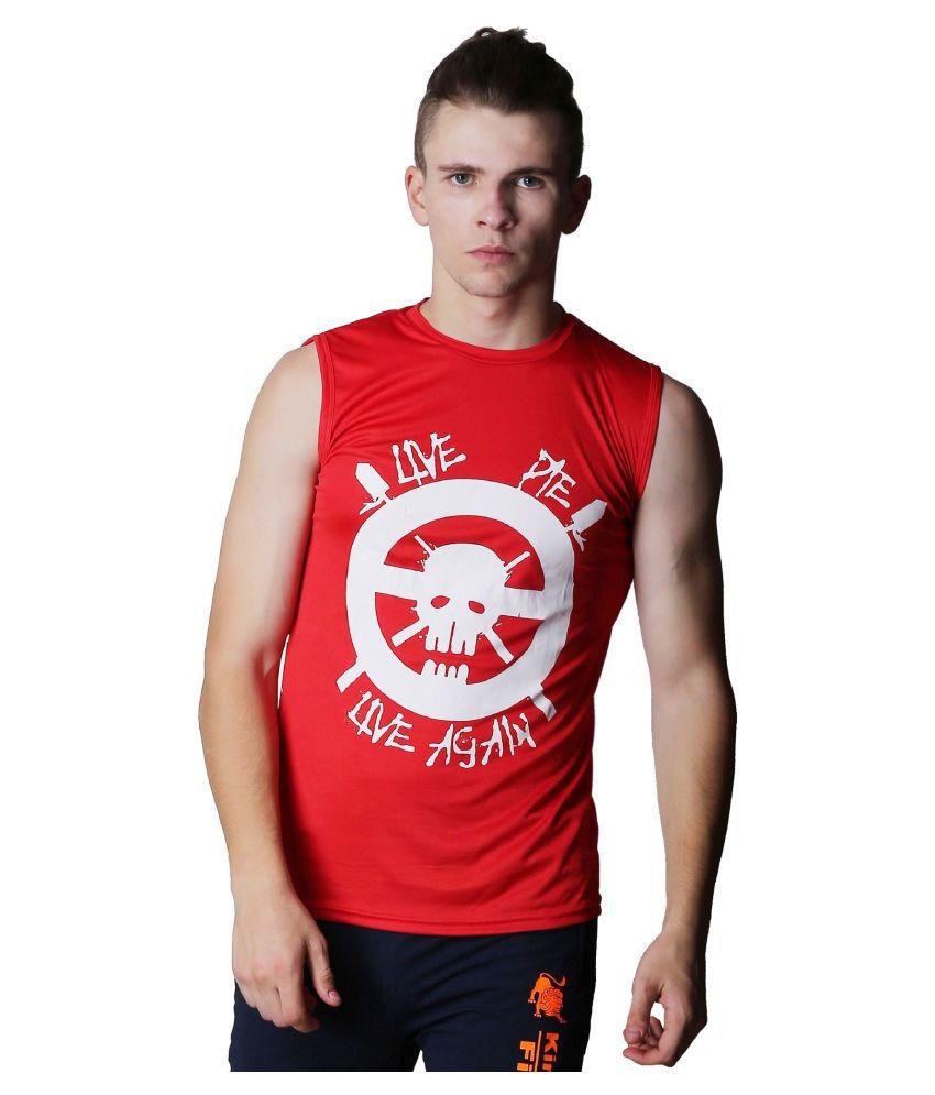 L'appel Du Vide Red Polyester T Shirt