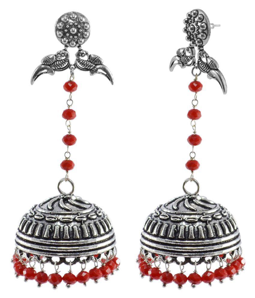 Silvesto India Silver Jhumki Earrings