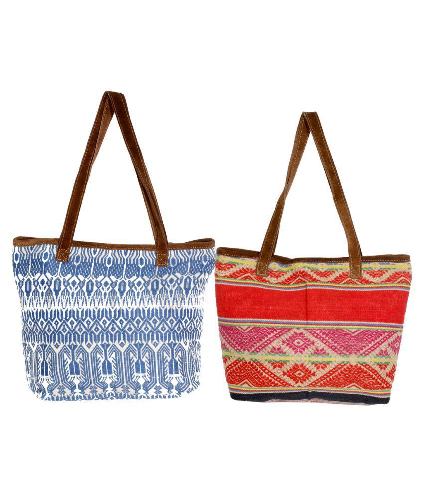 Indiweaves Multi Canvas Shoulder Bag