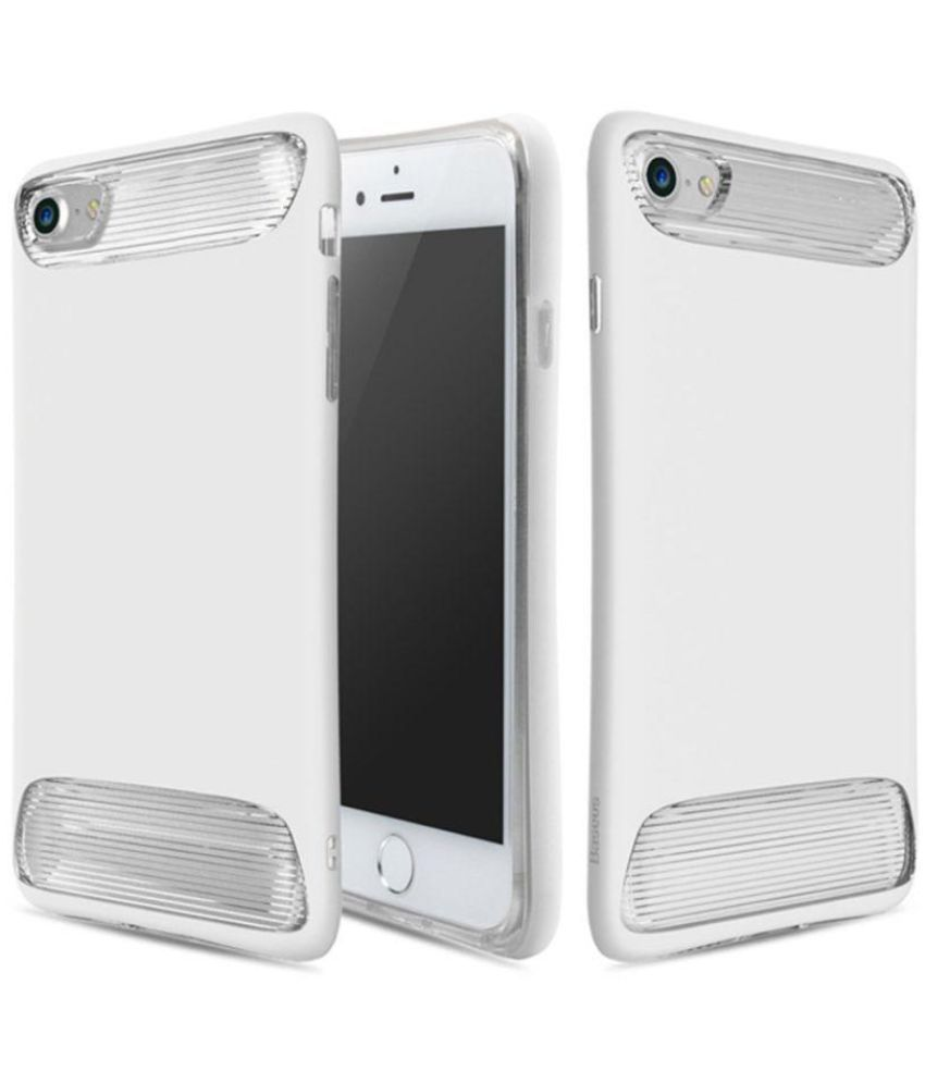 Apple Iphone 7 Cover By Baseus White Plain Back Covers Online At Simple Case Anti Shock 47 Soft Tpu
