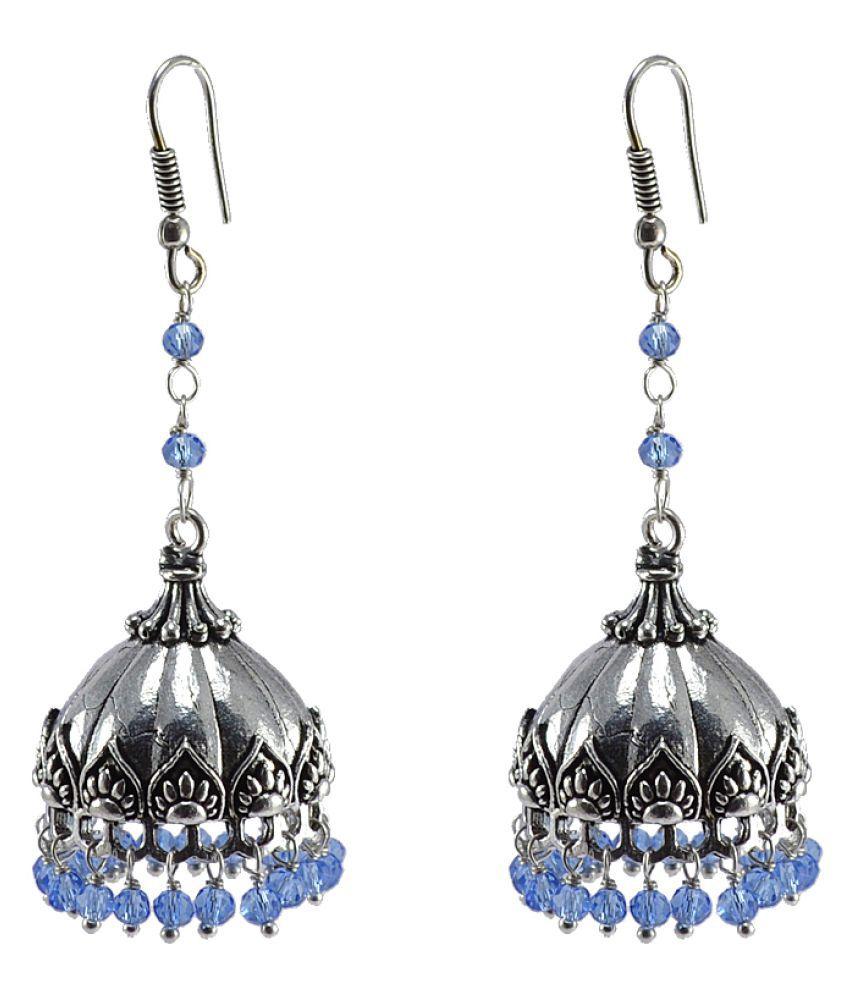 Silvesto India Blue Earrings