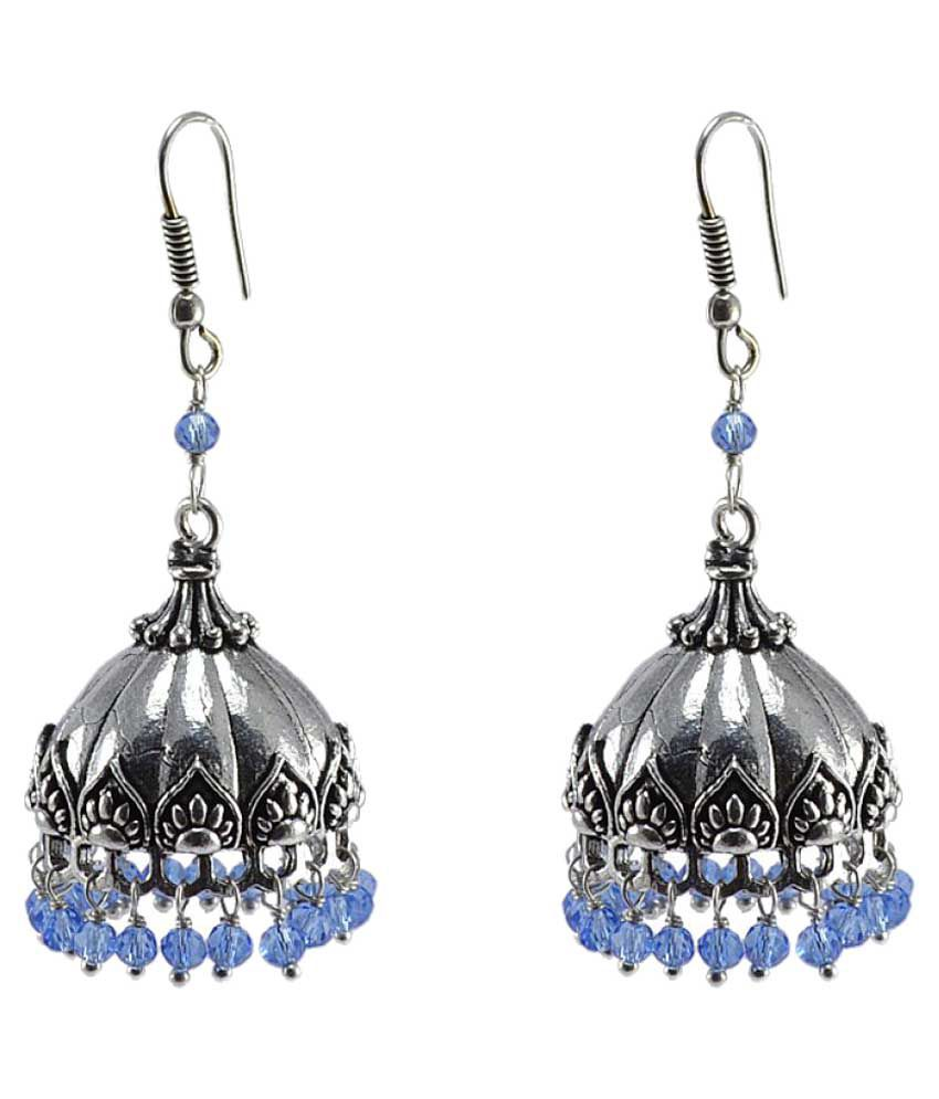 Silvesto India Blue Earrings