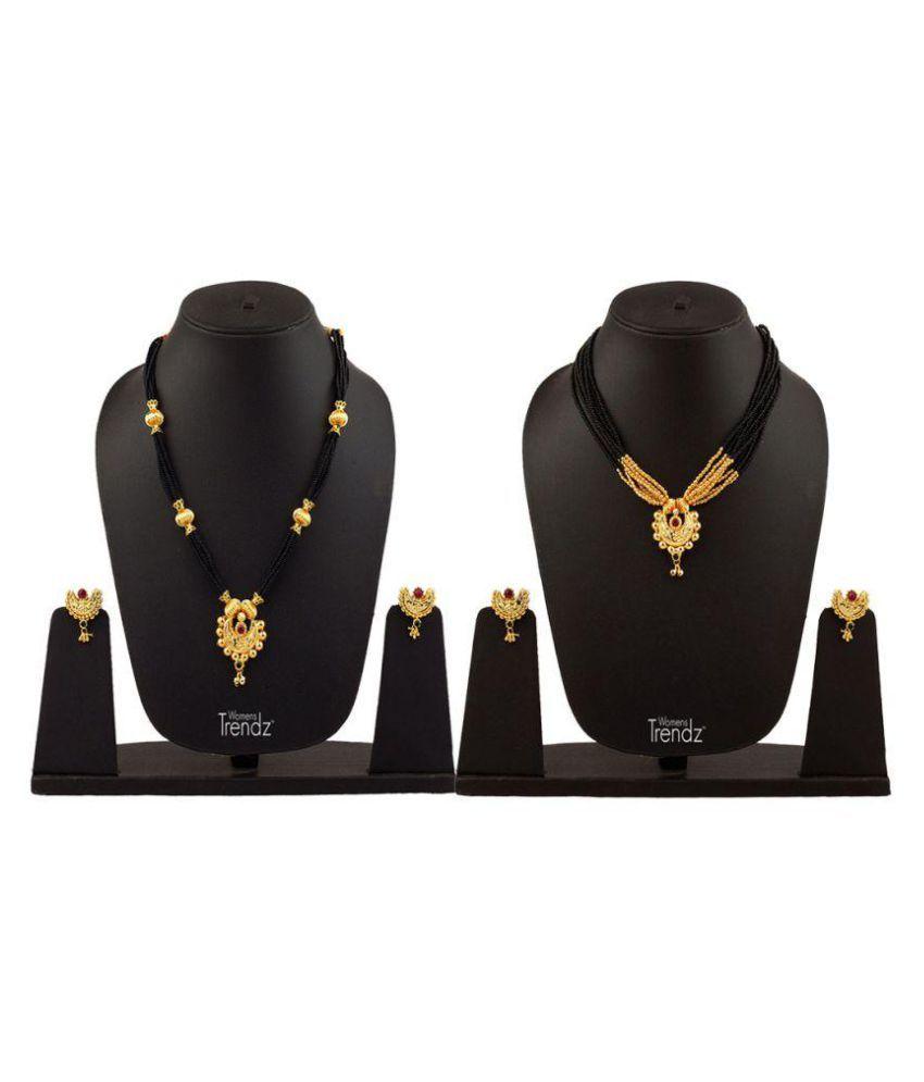Womens Trendz Golden Mangalsutra Set - Set of 2