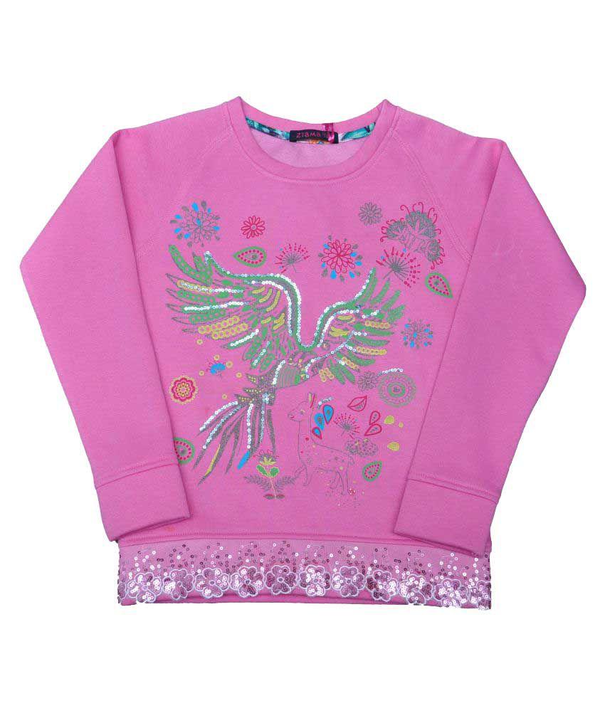 Ziama Pink Fleece Sweatshirt