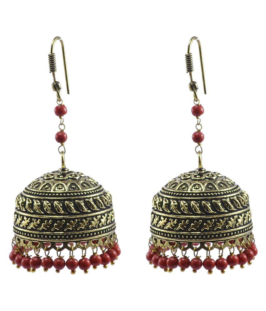 Silvesto India Golden Earrings