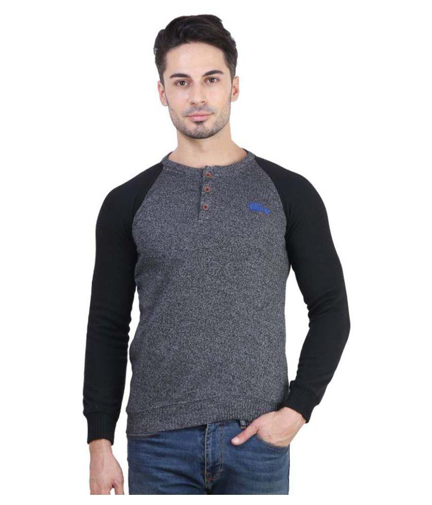 Bravezi Grey Henley T-Shirt
