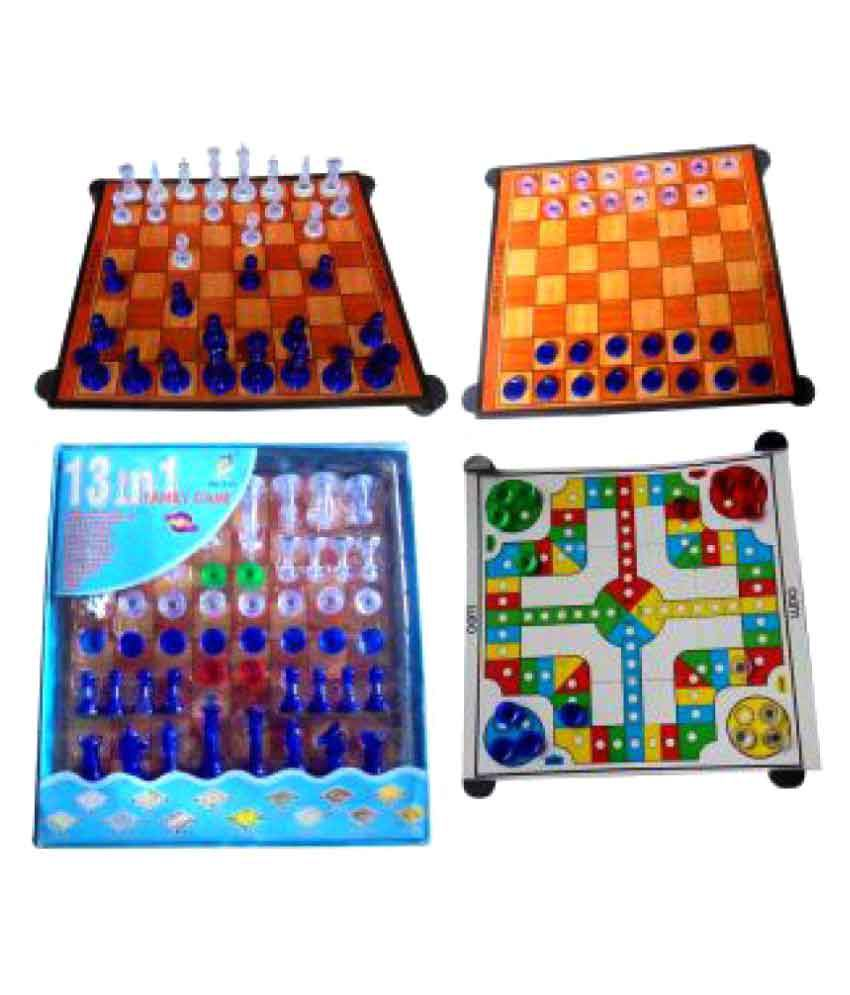Harsh Enterprise 13 in 1 Magnetic Ludo Chess Snacks and Ladders Set Board Game