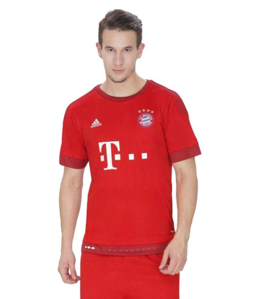 Bayern Munchen Red Polyester T-Shirt Single Pack