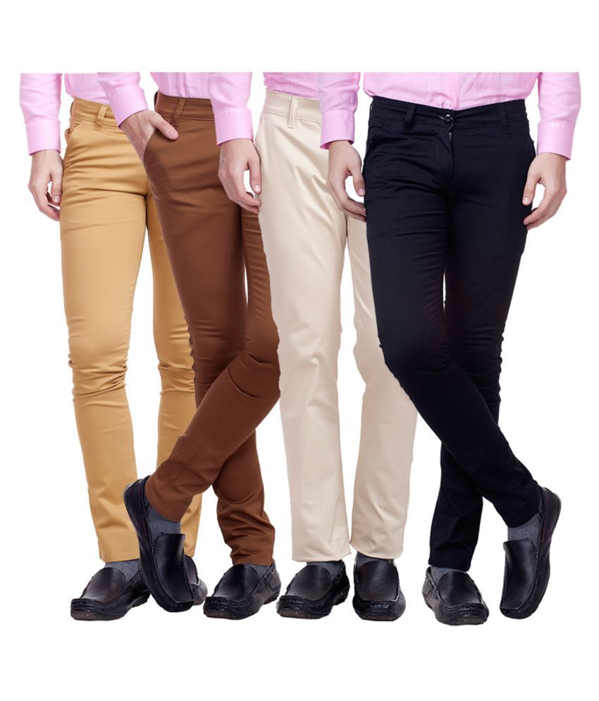 Nimegh Multicolored Slim Flat Chinos