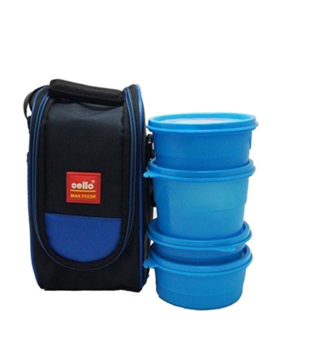 Cello Max Fresh Super Lunch 4 Container-Blue
