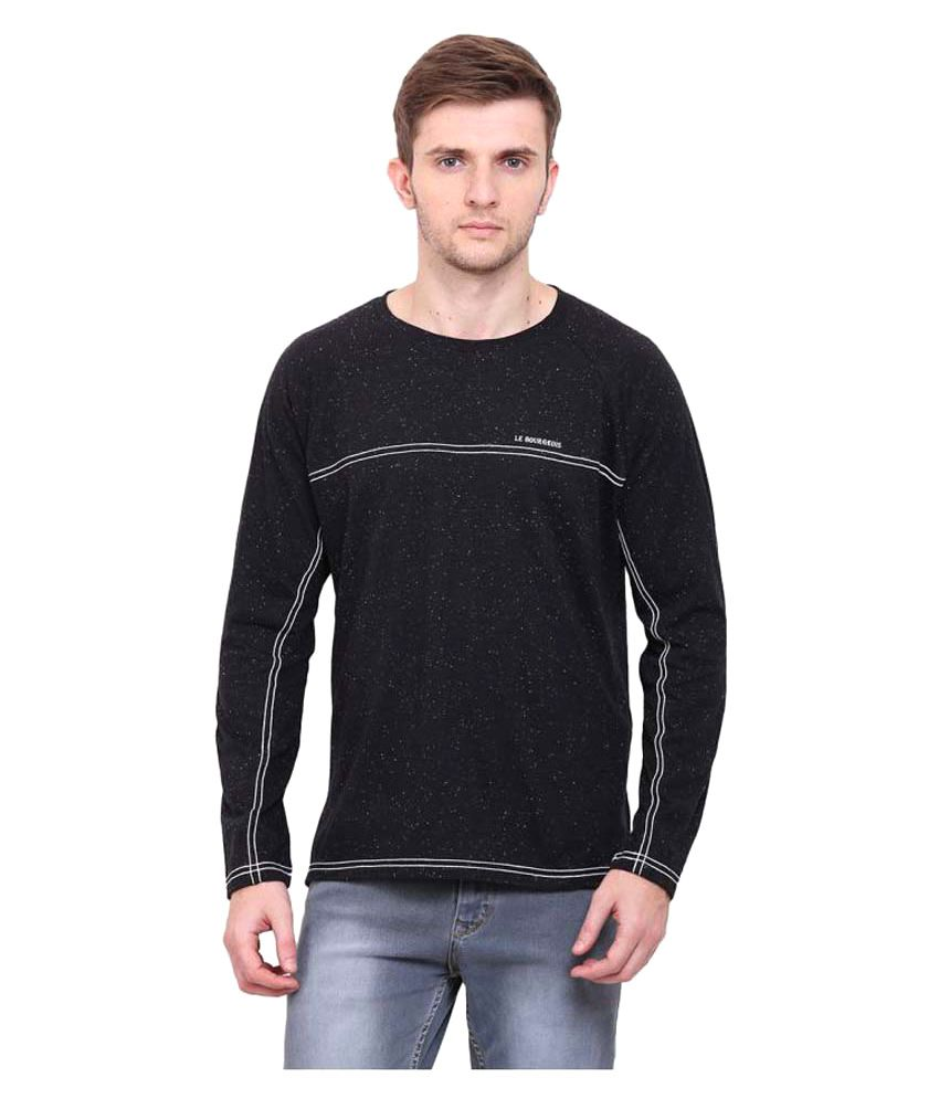 Le Bourgeois Black Round T-Shirt