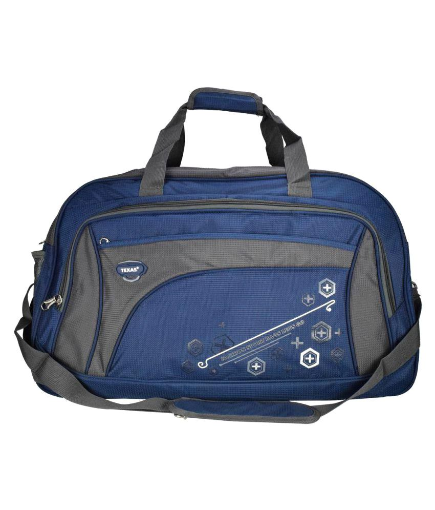 Texas USA Navy Blue Medium Nylon Gym Bag