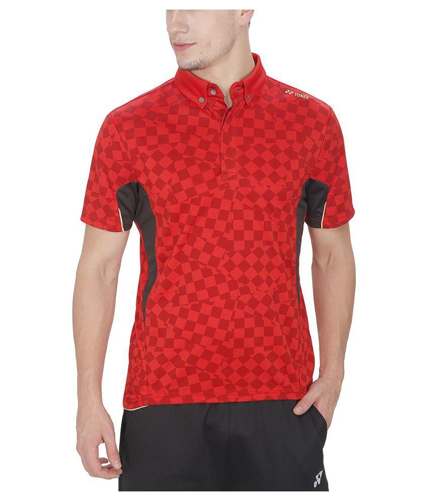 Yonex Red Badminton T-Shirt