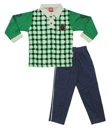 Kiddie Clap Multicolour Polo T-Shirt and Pant Set