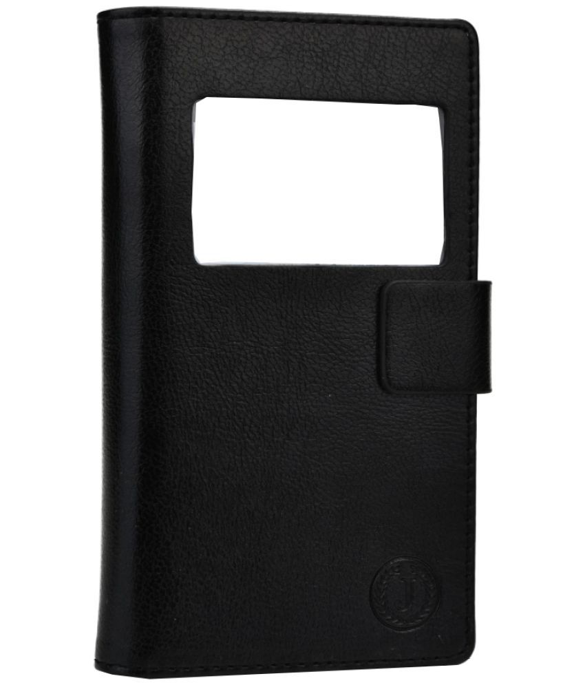 Lenovo K5 Note Flip Cover by Jojo - Black