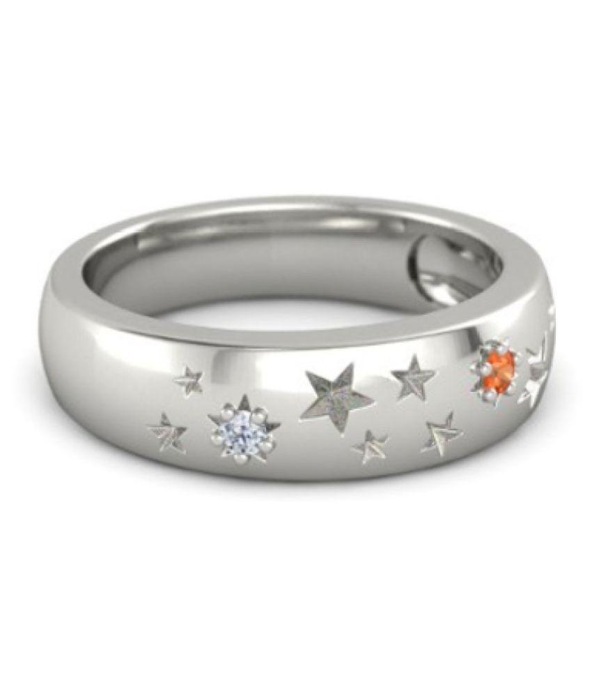 Caitali 92.5 Silver Opal Band Ring