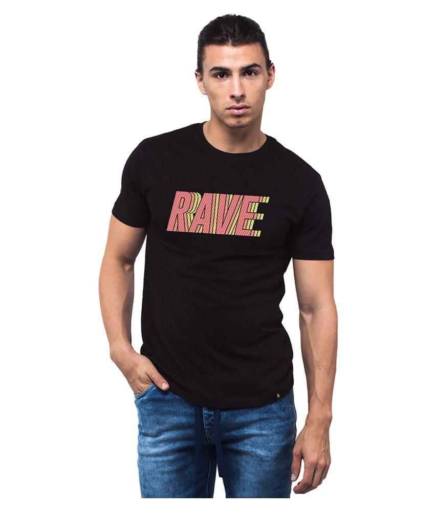 Bewakoof Black Round T-Shirt