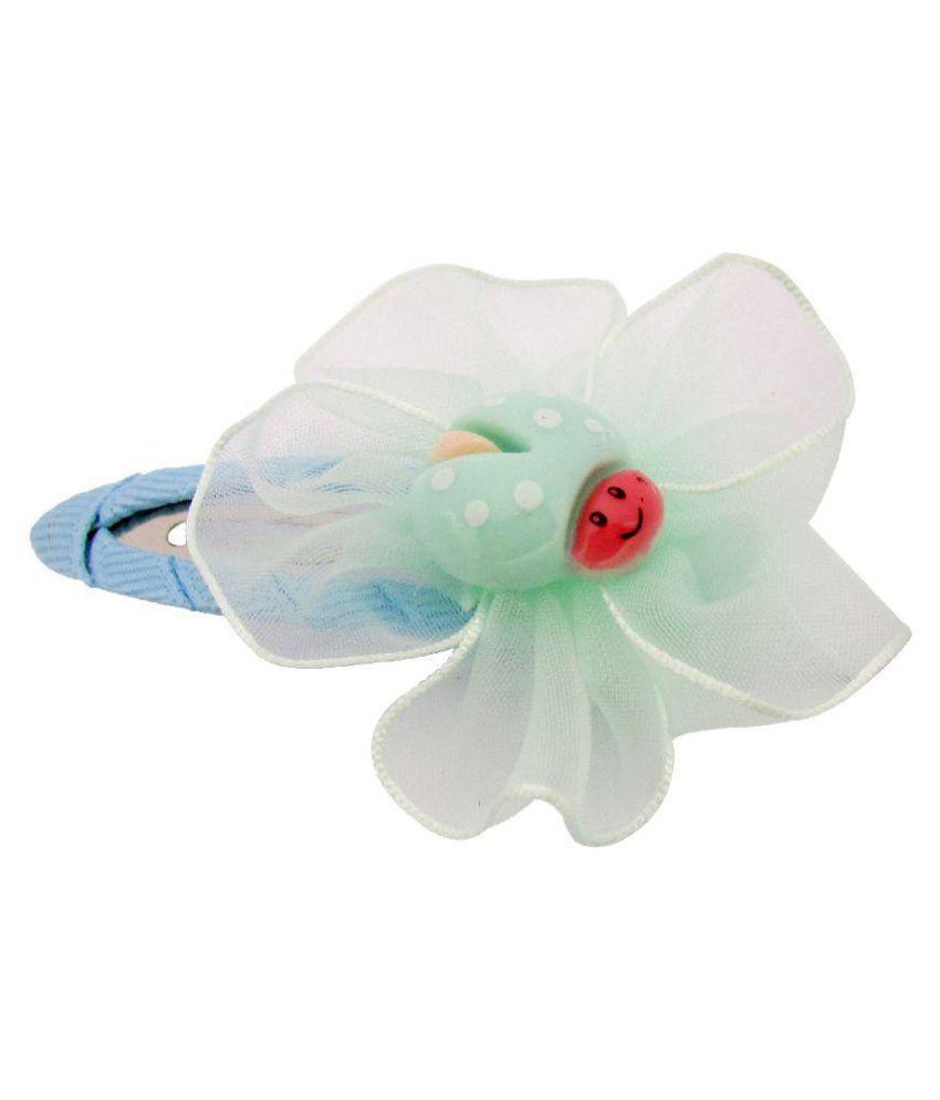 Jewelz Blue Metal Little Bug Hair Clip For Girls
