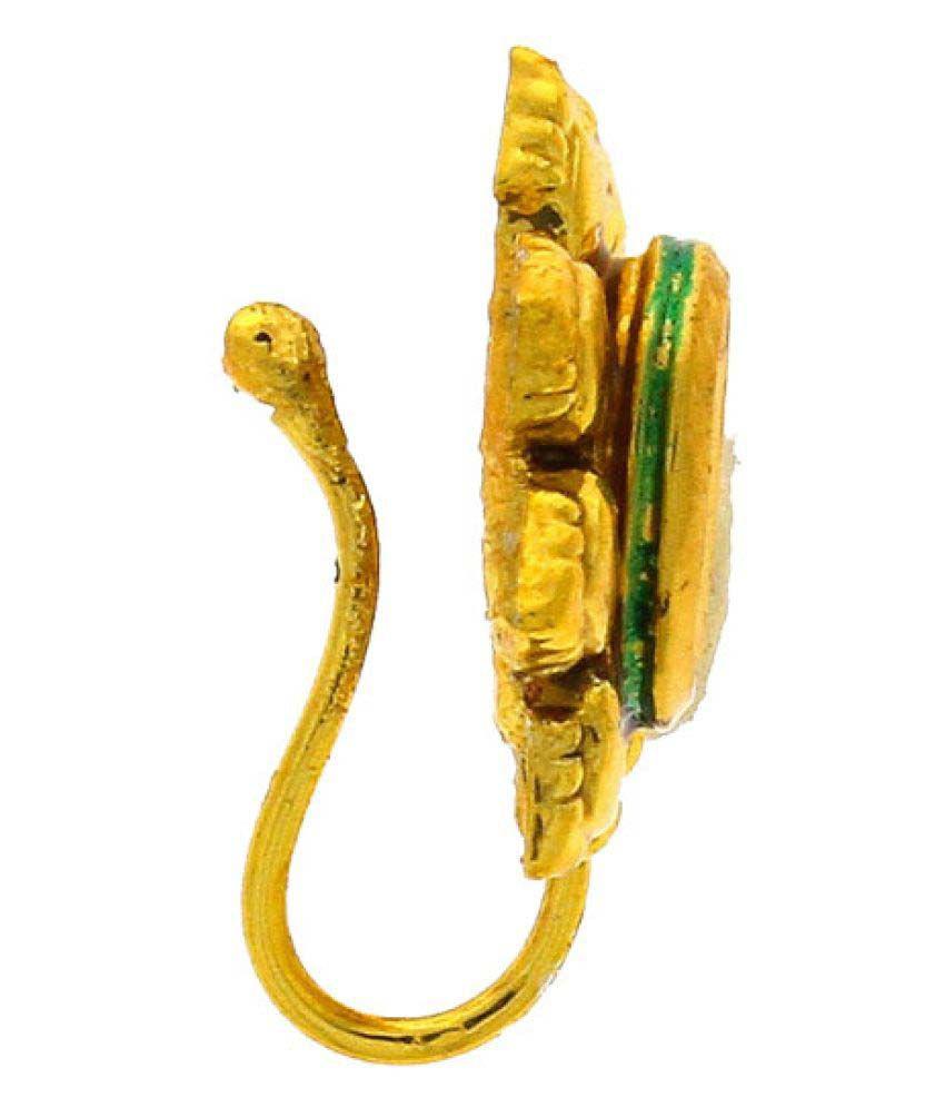 Anuradha Art Golden Alloy Nosepin
