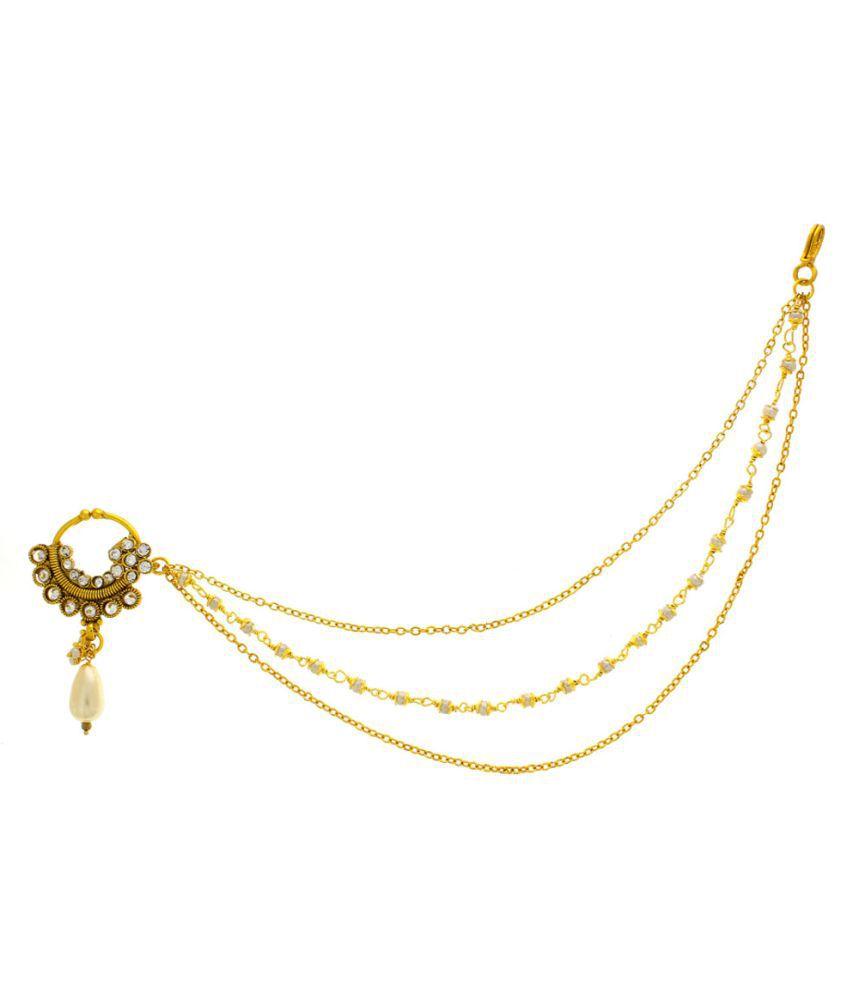 Anuradha Golden Alloy Nosering
