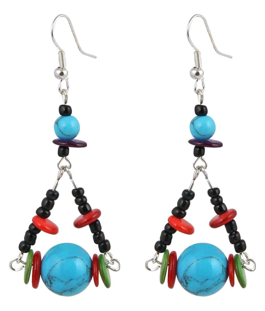 Jewelizer Multicolor Alloy Hangings Earring for Women