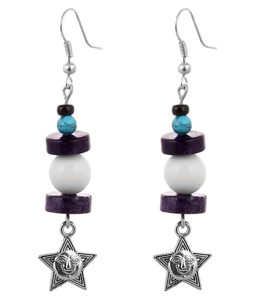 Jewelizer Multicolored Alloy Hangings Earrings For Women