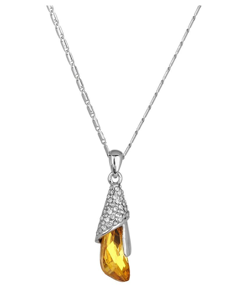 Jewelizer Silver Necklace for Women