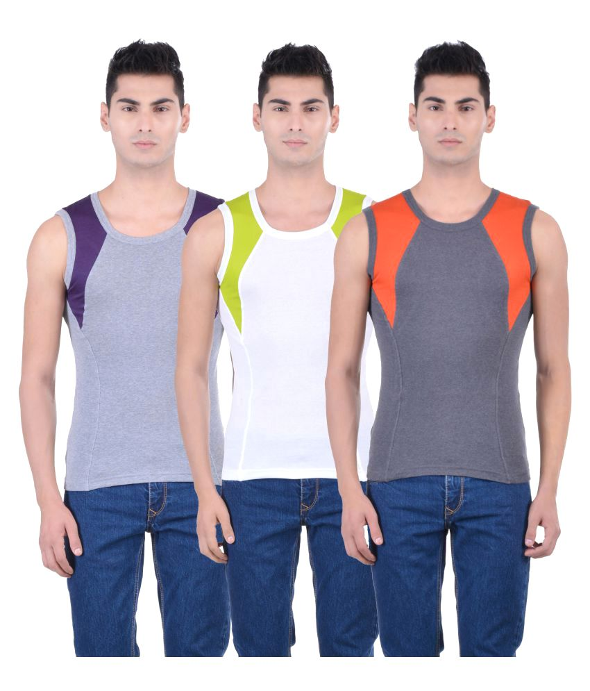 ONN Multi Sleeveless Vests Pack of 3