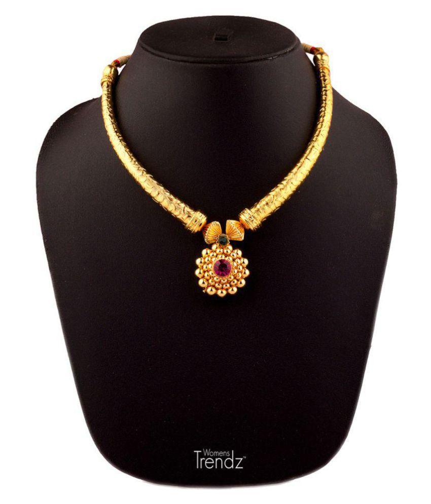 Womens Trendz 9k Yellow Gold Necklace