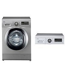 LG Above 8 FH 496 TDL 24 Fully Automatic Front Load Washing Machine Silver