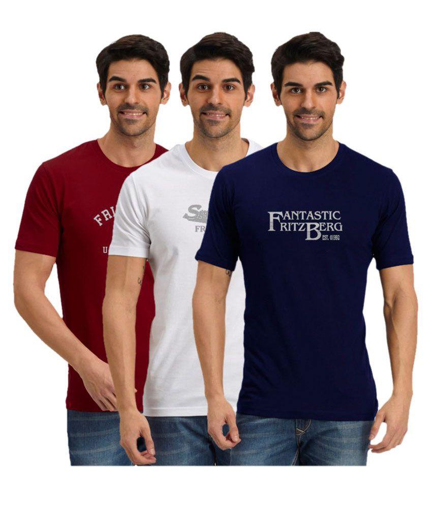 Fritzberg Multi Round T-Shirt Pack of 3