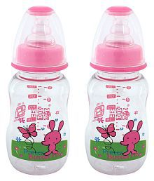 Mee Mee Multi-Colour Feeding Bottle - Pack Of 2 - 619429028387