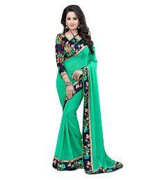 WXW Fashion Green Georgette Saree