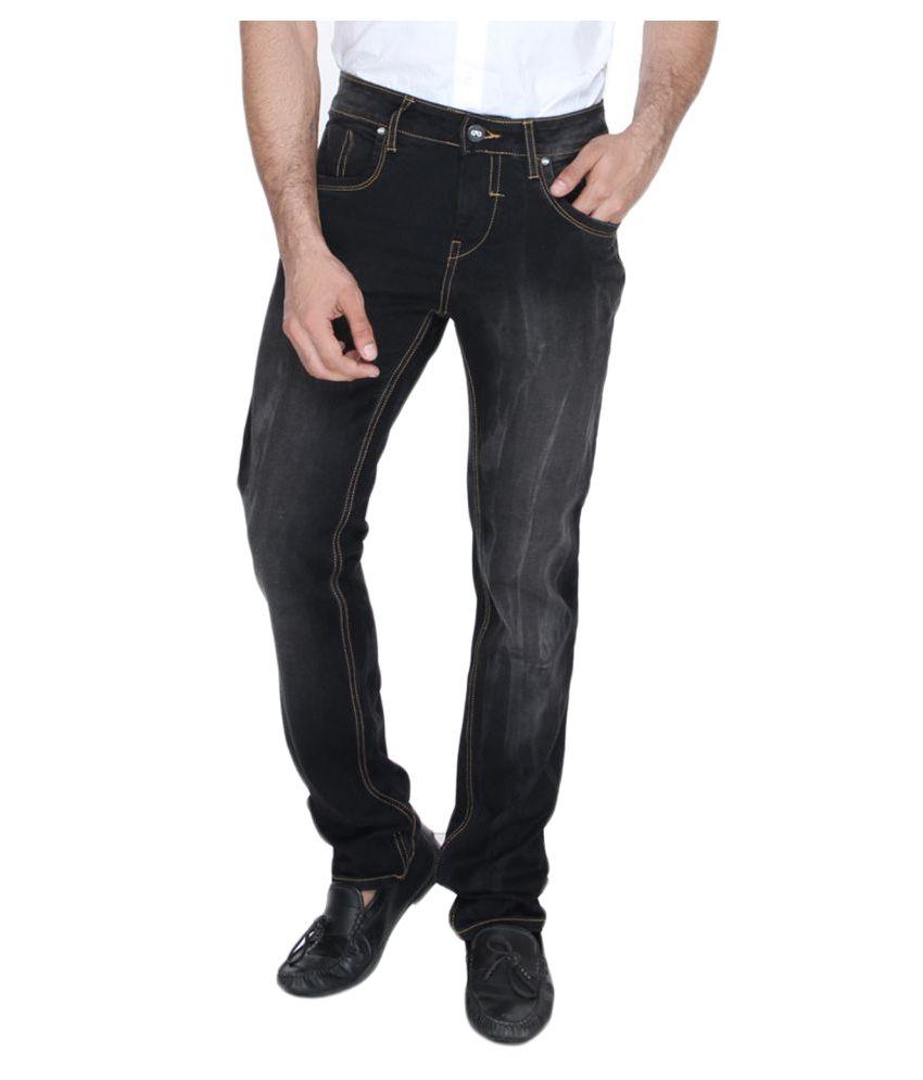 JadeBlue Black Regular Fit Jeans