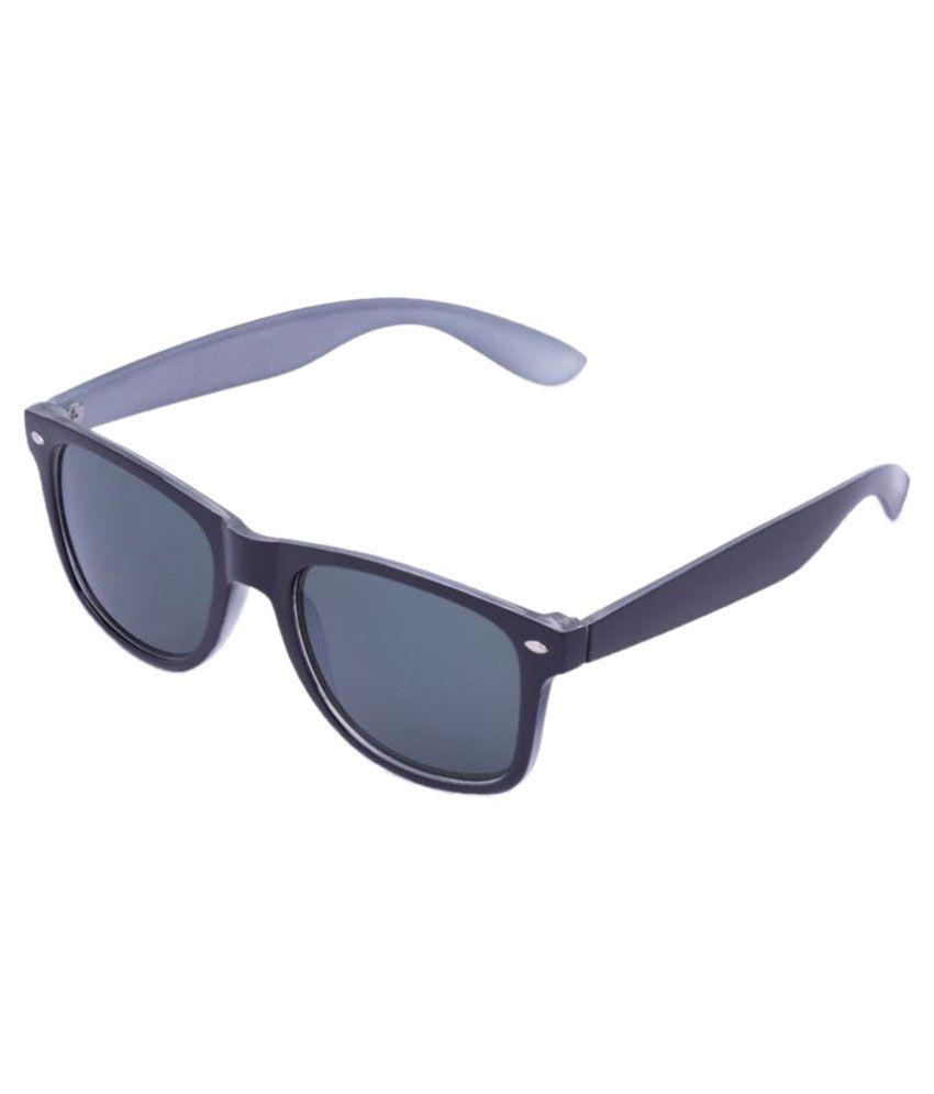 Agera Grey Wayfarer Sunglasses ( AG1014-Blk-Gry )