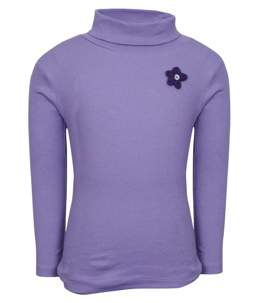 Bio Kid  Purple Cotton Blend Sweatshirt