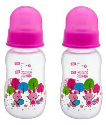 Mee Mee Pink Baby Premium Feeding Bottle 125ml  Pack Of 2
