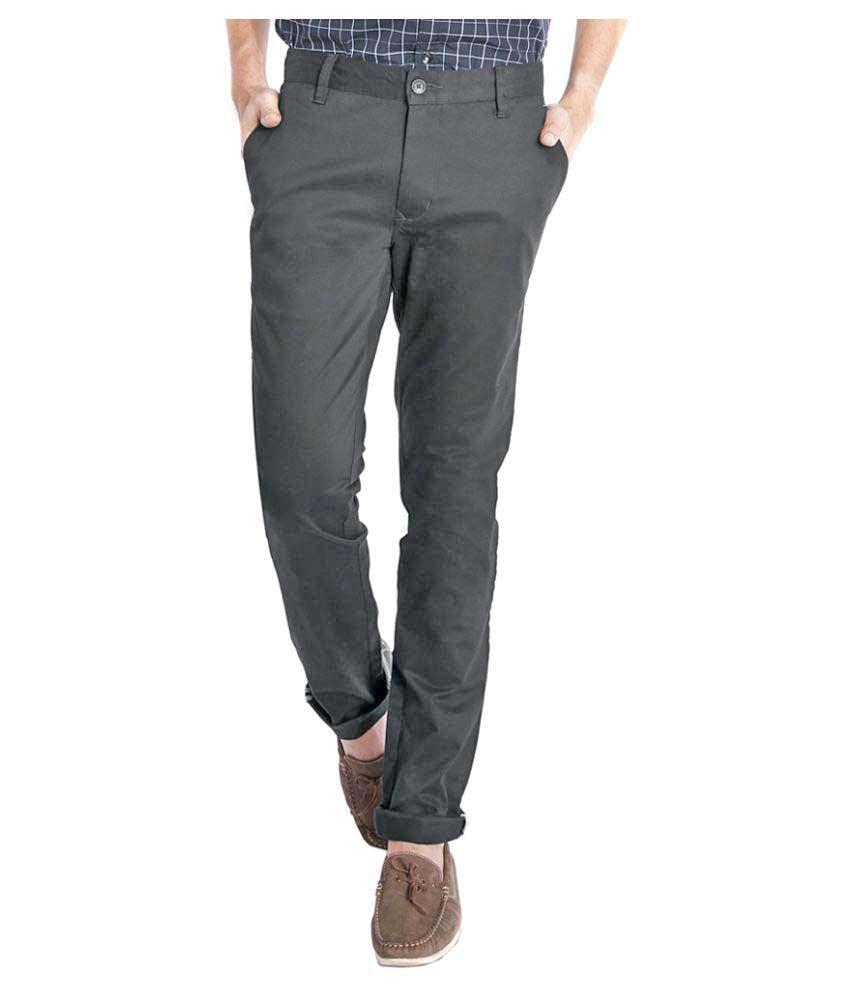 Parx Black Super Skinny Flat Trousers