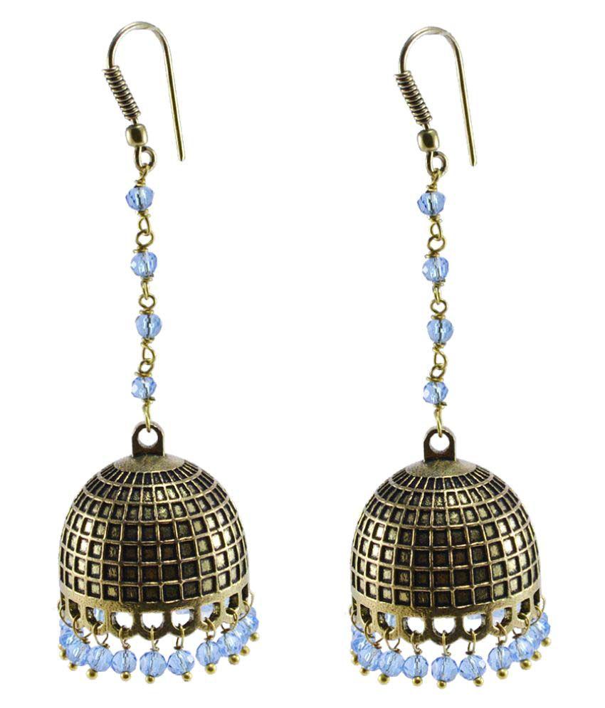 Silvesto India Golden Jhumki Earrings Single Pair
