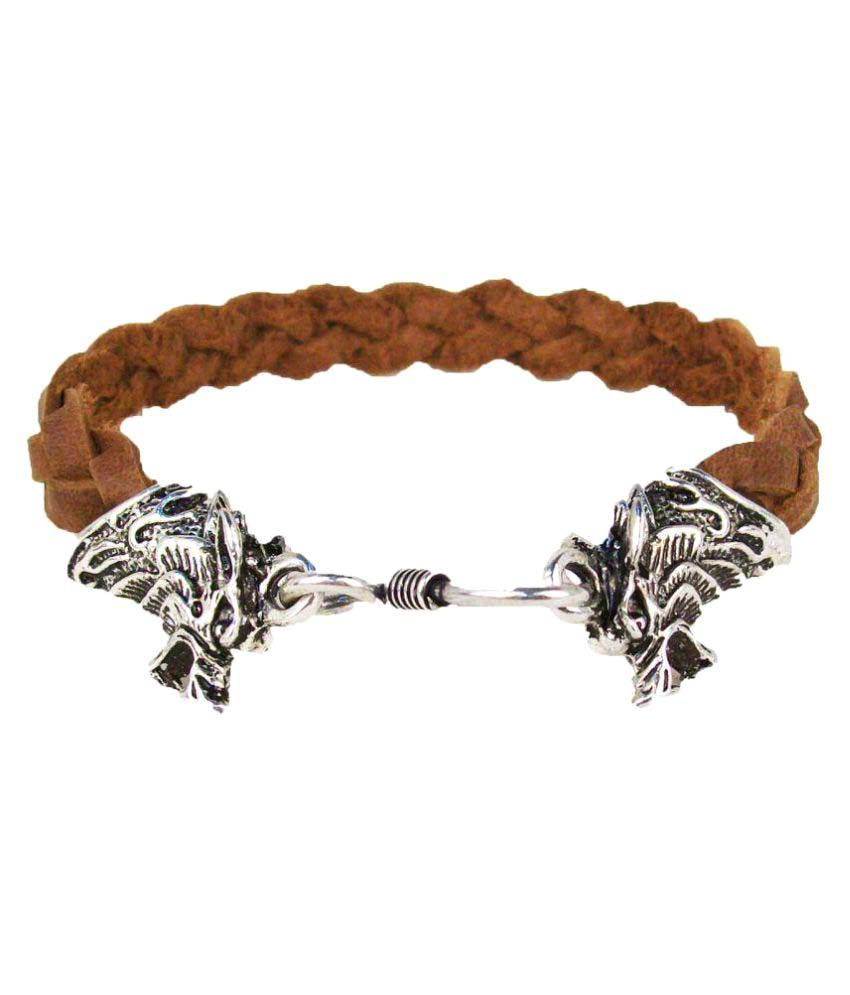 Shopper Zone Tan Faux Leather Bracelet