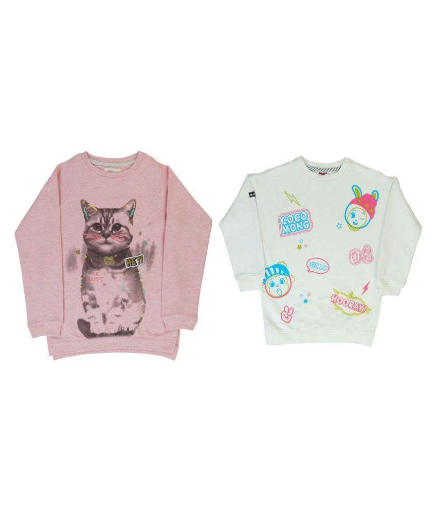 Indirang Multicolour Cotton Sweatshirt - Pack of 2