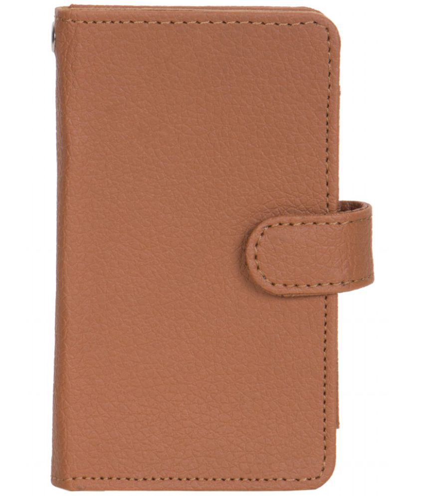 Karbonn A10 Holster Cover by Senzoni - Brown