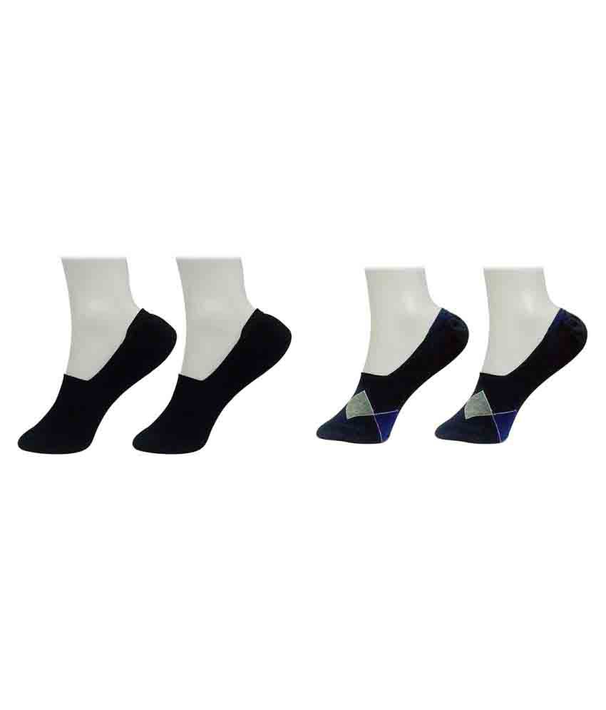 Gold Dust Black Low Cut Socks - Pack of 2