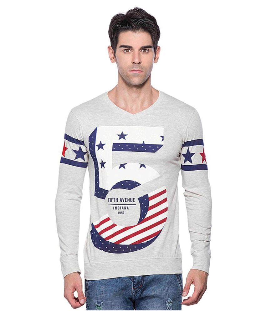 Maniac Off-White V-Neck T-Shirt
