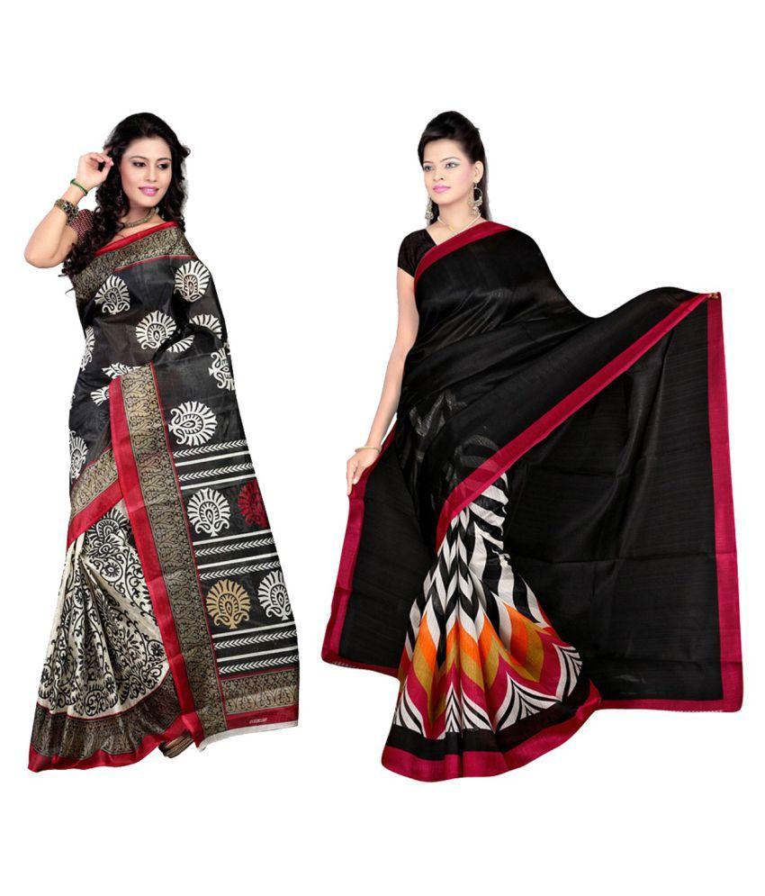 Esk Fashions Multicoloured Cotton Saree Combos