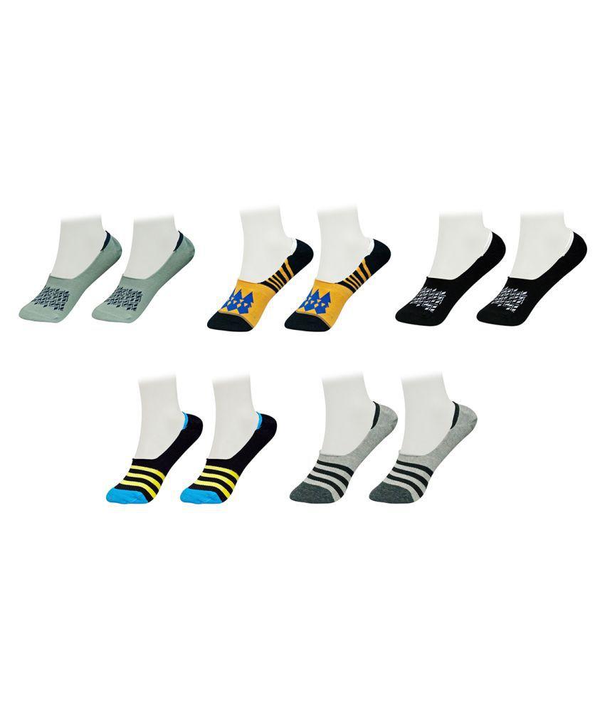 Gold Dust Multicolour Footies Socks - Pairs Of 5